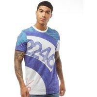 adidas Originals Mens Archive Catalog T-Shirt Blue/White/Multicolour