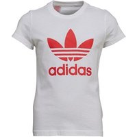 adidas Originals Girls Trefoil T-Shirt White/Tomato
