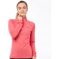 Asics Womens Performance 1/2 Zip Long Sleeve Running Top Camelion Rose
