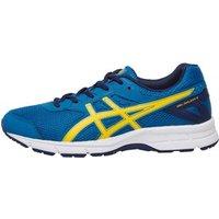 Asics Junior Gel Galaxy 9 Neutral Running Shoes Thunder Blue/Vibrant Yellow/Indigo Blue