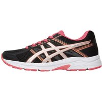 Asics Womens Gel Contend 4 Neutral Running Shoes Black/Silver/Flash Coral