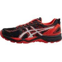 Asics Mens Gel Fuji Trabuco 5 Stability Trail Running Shoes Black/Vermillion/Silver