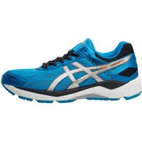 Asics Mens Gel Fortitude 7 Stability Running Shoes Blue Jewel/Silver/Flame Orange