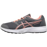 Asics Junior Girls Stormer 2 GS Neutral Running Shoes Carbon/Begonia Pink/White