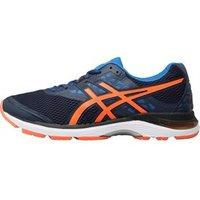 Asics Mens Gel Pulse 9 Neutral Running Shoes Dark Blue/Shocking Orange/Victoria Blue