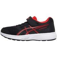 Asics Junior Girls Stormer 2 PS Neutral Running Shoes Black/Red Alert