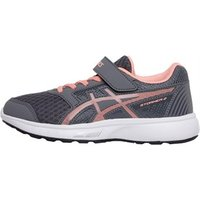Asics Girls Stormer 2 PS Neutral Running Shoes Carbon/Begonia Pink/White