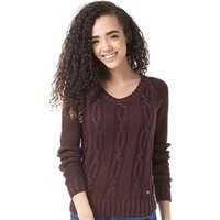 adidas-neo-womens-cable-knit-sweater-mahogany