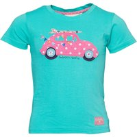 Babeskin Girls VW Beetle Print T-Shirt Aqua Green