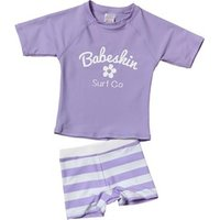 Babeskin Girls Two Piece UV Top And Shorts Set Lavender/Optic