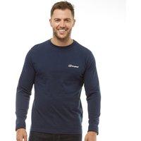 Berghaus Mens Blocks 4 Back Logo Long Sleeve T-Shirt Dusk