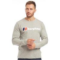 Berghaus Mens Blocks 1 Back Logo Long Sleeve T-Shirt Grey/Grey