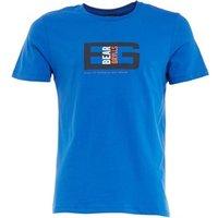 Bear Grylls Mens Graphic T-Shirt Sport Blue