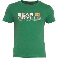 Bear Grylls Boys Graphic T-Shirt Leaf Green