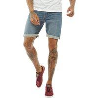 Bellfield Mens Denim Shorts Midwash