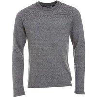 bellfield-mens-spliced-printed-sweatshirt-grey