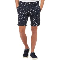Bellfield Mens Ditzy Print Shorts Navy