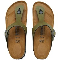 Birkenstock Junior Gizeh Birko-Flor Pull Up Sandals Olive