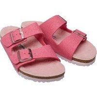 Birkenstock Girls Arizona WZ Wool Felt Happy Lamb Sandals Pink/Rose