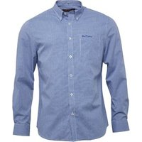 ben-sherman-mens-long-sleeve-mini-gingham-shirt-directoire-blue