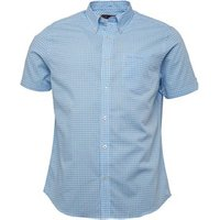 ben-sherman-mens-short-sleeve-standard-gingham-shirt-powder-blue
