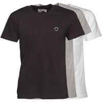Ben Sherman Mens Theo Three Pack T-Shirt Black/White/Grey
