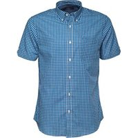 ben-sherman-mens-short-sleeve-classic-check-shirt-blue