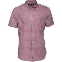 ben-sherman-mens-short-sleeve-heritage-check-shirt-red