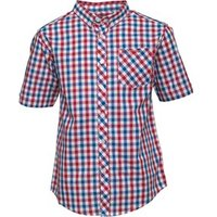 ben-sherman-junior-boys-multi-coloured-gingham-poplin-shirt-red