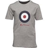 Ben Sherman Boys Target T-Shirt Grey Marl