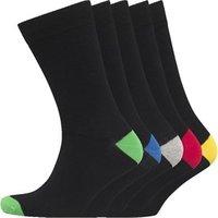 Brave Soul Mens Five Pack Socks Black/Multi