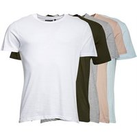 brave-soul-mens-harris-b-five-pack-t-shirts-white-khaki-light-grey-marl-stone-baby-blue