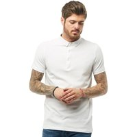 Brave Soul Mens Shield Polo White