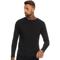 Brave Soul Mens Prague Crew Neck Top Black