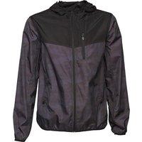 Brave Soul Mens Lightweight Hooded Windrunner Jacket Black/Camo