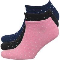 Brave Soul Womens Polka Dot Three Pack Trainer Socks Spot
