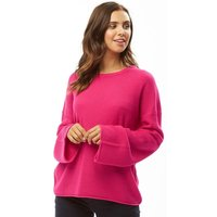 Brave Soul Womens Mossley Flare Sleeve Jumper Hot Pink B