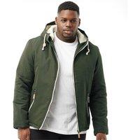 Brave Soul Mens Plus Size Skagen Padded Jacket Khaki