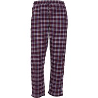 Brave Soul Mens Terrence Woven Flannel Lounge Pants Wine/Blue Check