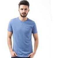 Brave Soul Mens Arkham T-Shirt Light Vintage Blue Marl