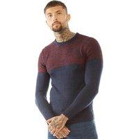 brave-soul-mens-roland-reverse-knit-jumper-navy-bordeaux