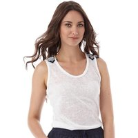 Brave Soul Womens Indiana Vest Off White