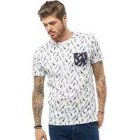 Brave Soul Mens Archni T-Shirt White