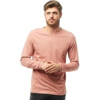 Brave Soul Mens Prague Long Sleeve T-Shirt Winter Pink