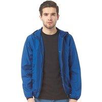 Brave Soul Mens Lightweight Hooded Windrunner Jacket Cobalt Blue