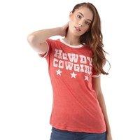 brave-soul-womens-cow-girl-t-shirt-retro-red-marl-cream