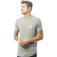 Beck And Hersey Mens Logo EMB T-Shirt Grey Marl