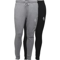 Closure London Mens Two Pack Joggers Black/Grey