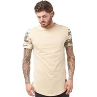 Closure London Mens Camo Sleeve T-Shirt Stone