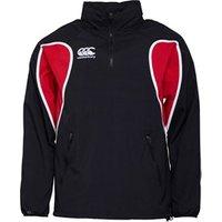 Canterbury Mens Classic Water Resistant 1/4 Zip Rain Jacket Black